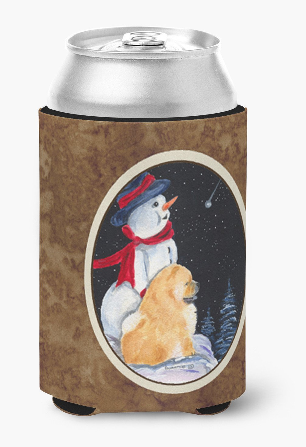 Snowman with Chow Chow Can or Bottle Beverage Insulator Hugger by Caroline's Treasures