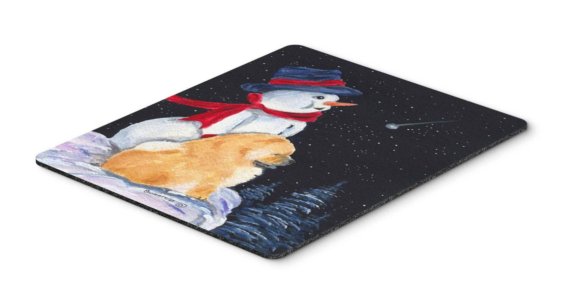 Snowman with Chow Chow Mouse Pad, Hot Pad or Trivet by Caroline's Treasures