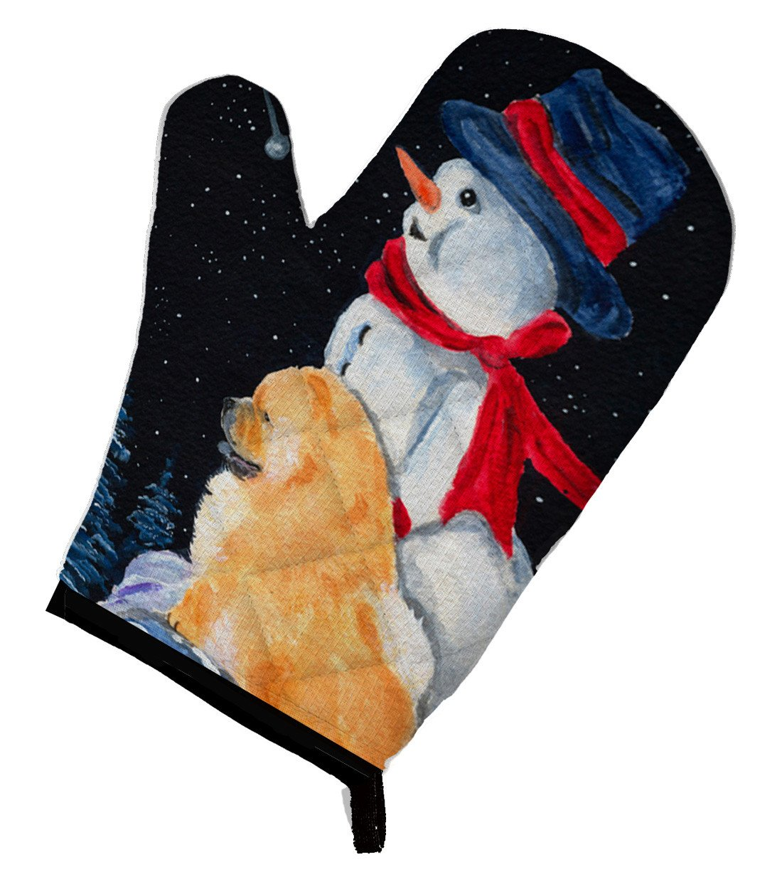 Snowman with Chow Chow Oven Mitt SS8554OVMT by Caroline's Treasures