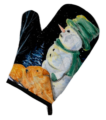 Buy this Snowman with Lakeland Terrier Oven Mitt SS8555OVMT
