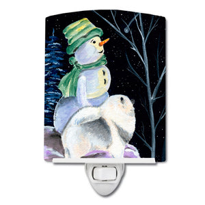 Buy this Snowman with Keeshond Ceramic Night Light SS8557CNL