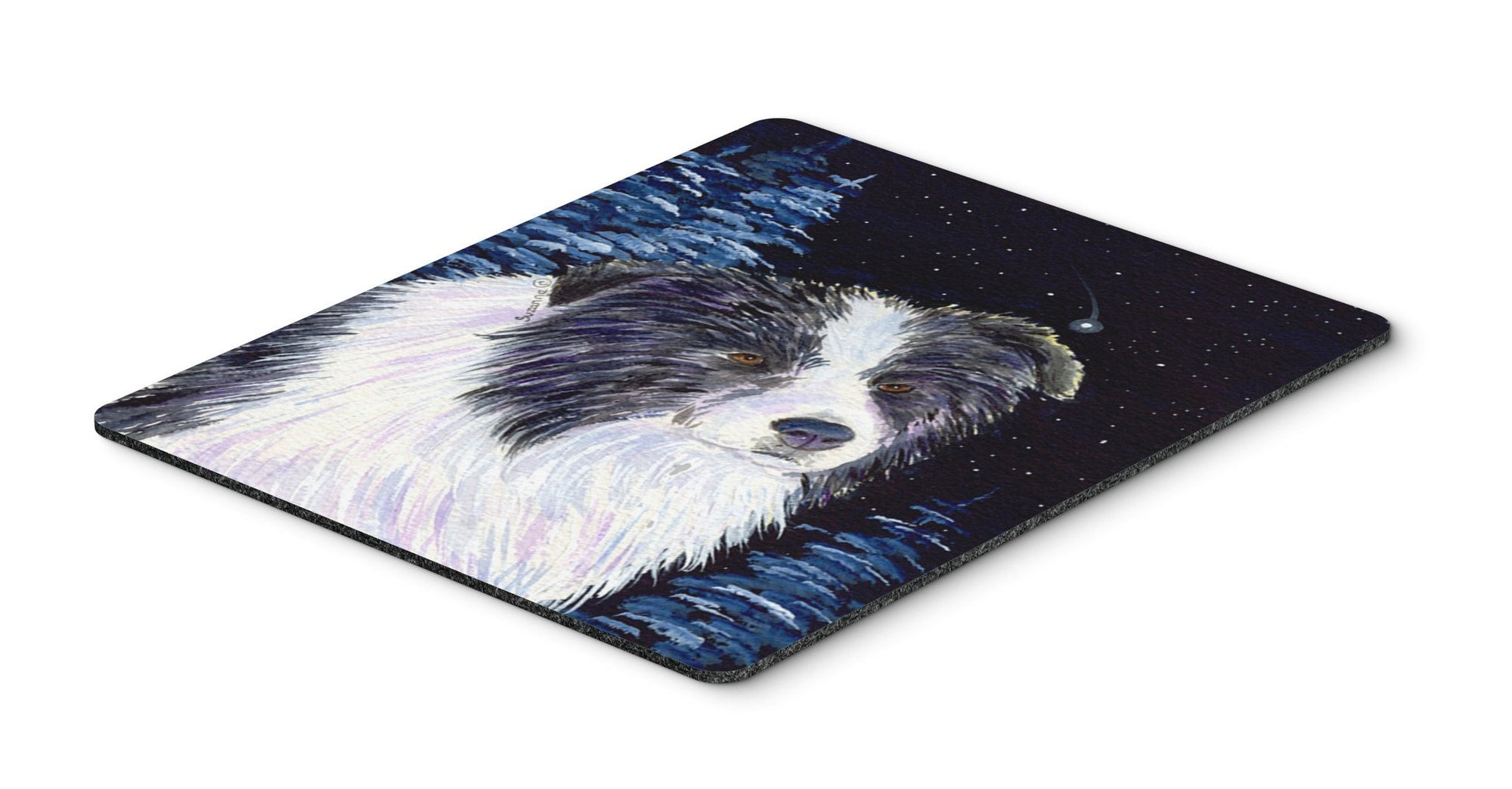 Buy this Starry Night Border Collie Mouse Pad, Hot Pad or Trivet