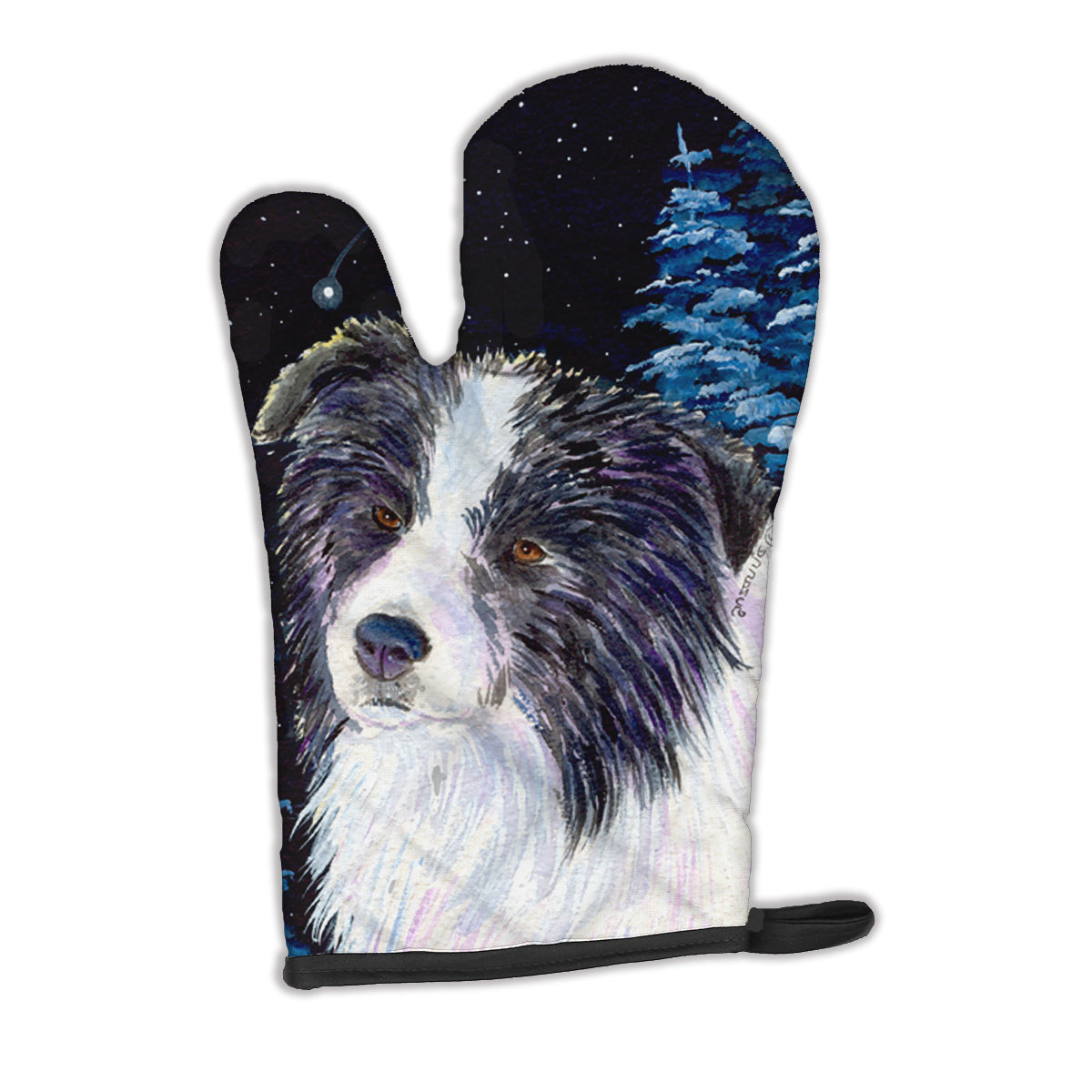 Starry Night Border Collie Oven Mitt SS8558OVMT by Caroline's Treasures