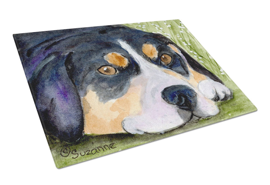 Buy this Entlebucher Mountain Dog Glass Cutting Board Large