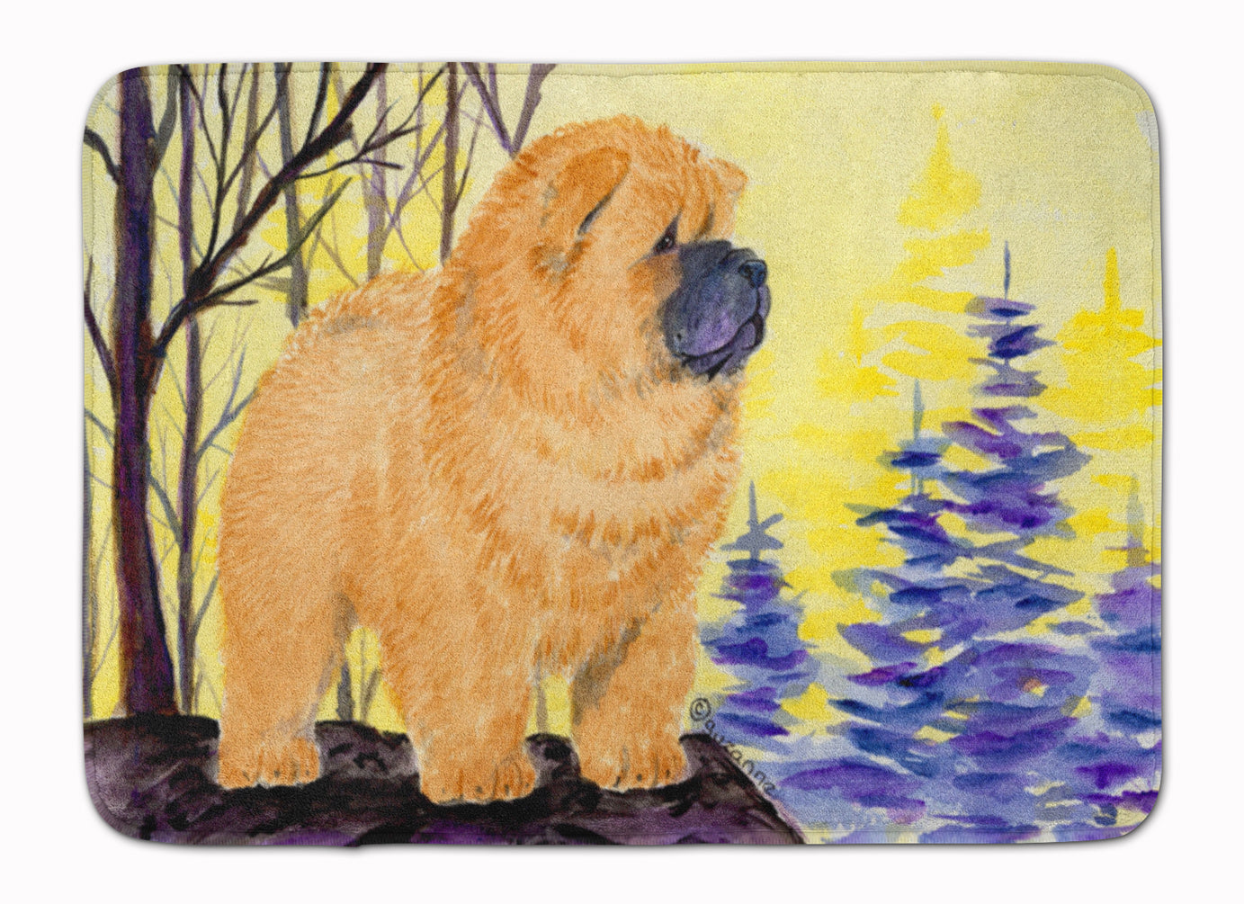 Chow Chow Machine Washable Memory Foam Mat SS8603RUG by Caroline's Treasures