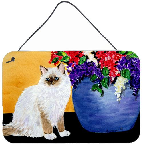 Cat - Ragdoll Indoor Aluminium Metal Wall or Door Hanging Prints by Caroline's Treasures