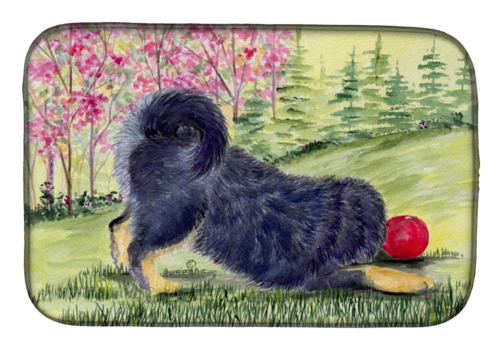Tibetan Mastiff Dish Drying Mat SS8612DDM by Caroline's Treasures