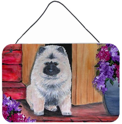 Buy this Keeshond Indoor Aluminium Metal Wall or Door Hanging Prints