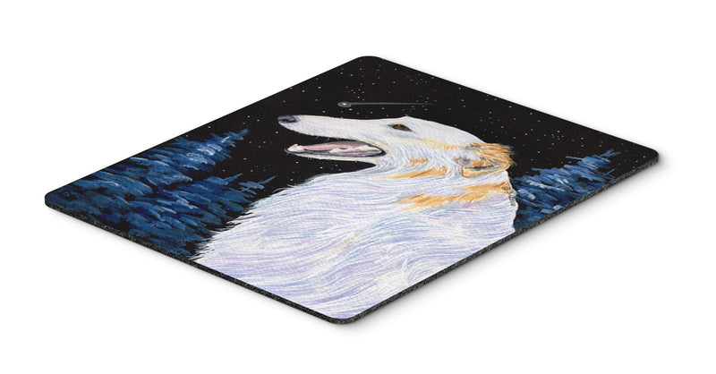 Buy this Borzoi Mouse Pad, Hot Pad or Trivet