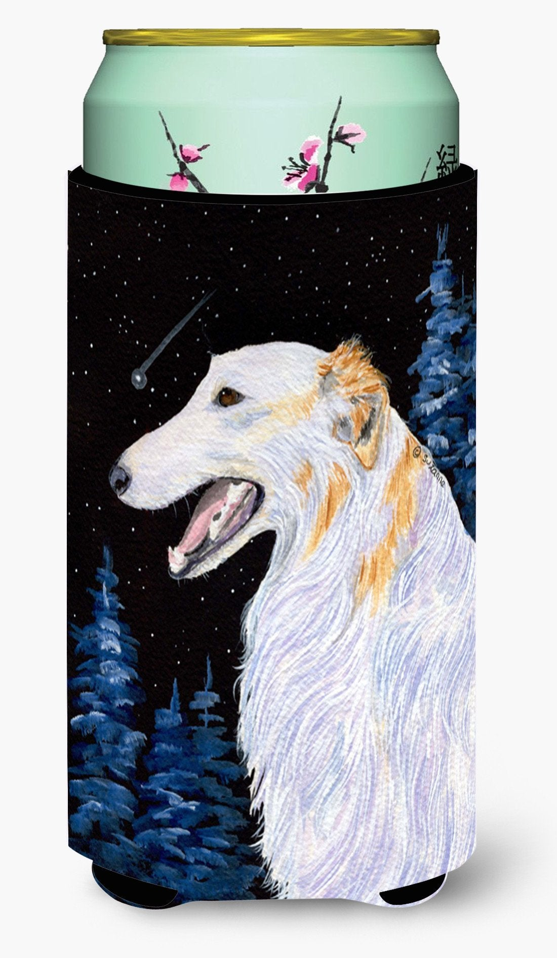 Borzoi  Tall Boy Beverage Insulator Beverage Insulator Hugger by Caroline's Treasures