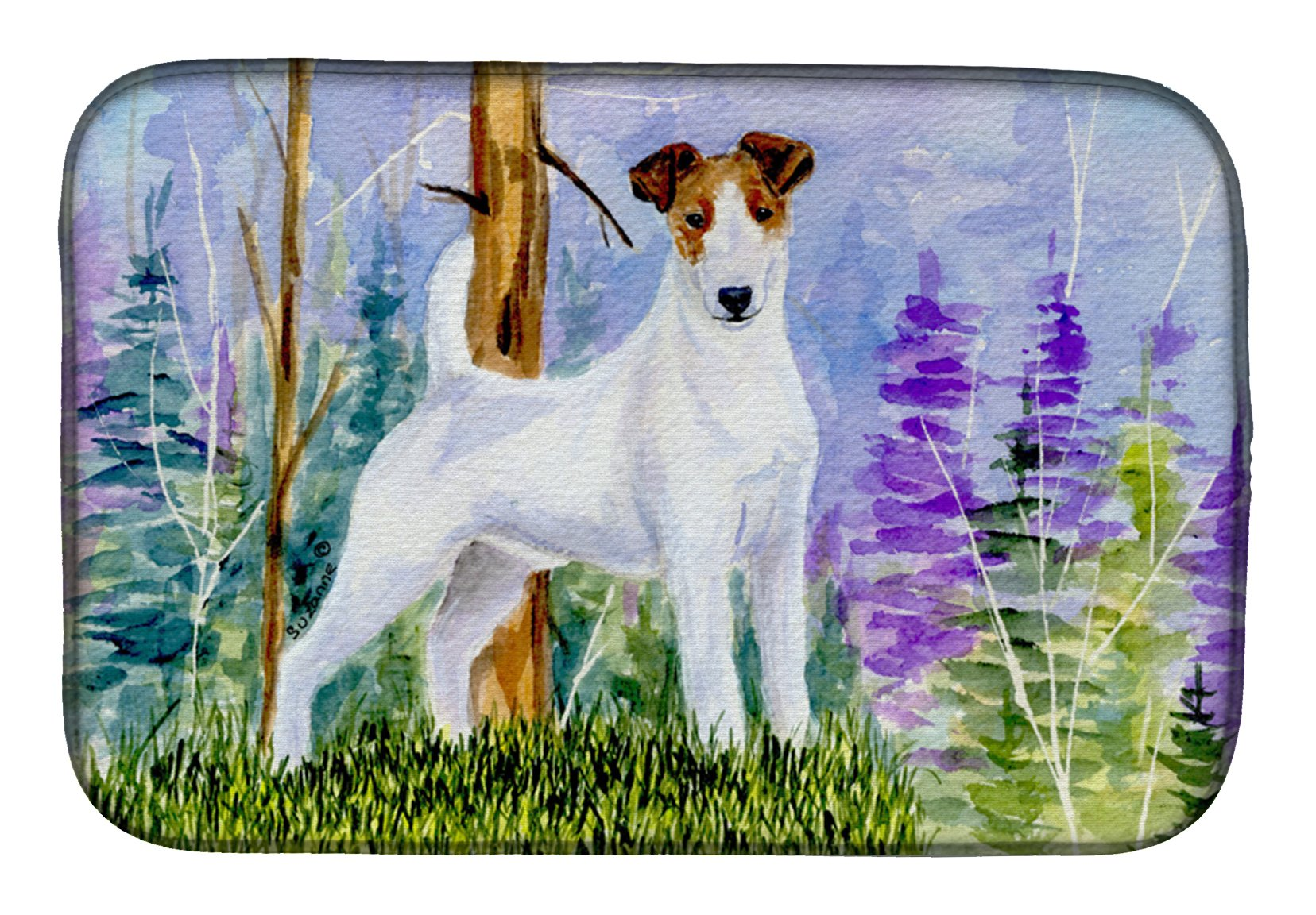 Jack Russell Terrier Dish Drying Mat SS8637DDM by Caroline's Treasures