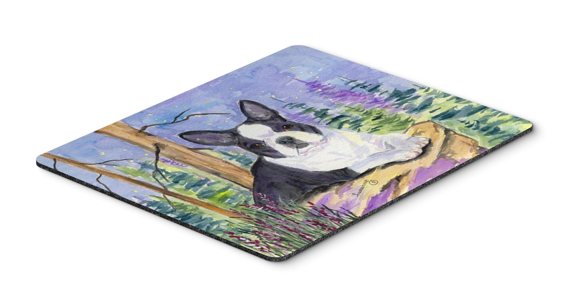 Boston Terrier Mouse pad, hot pad, or trivet by Caroline's Treasures