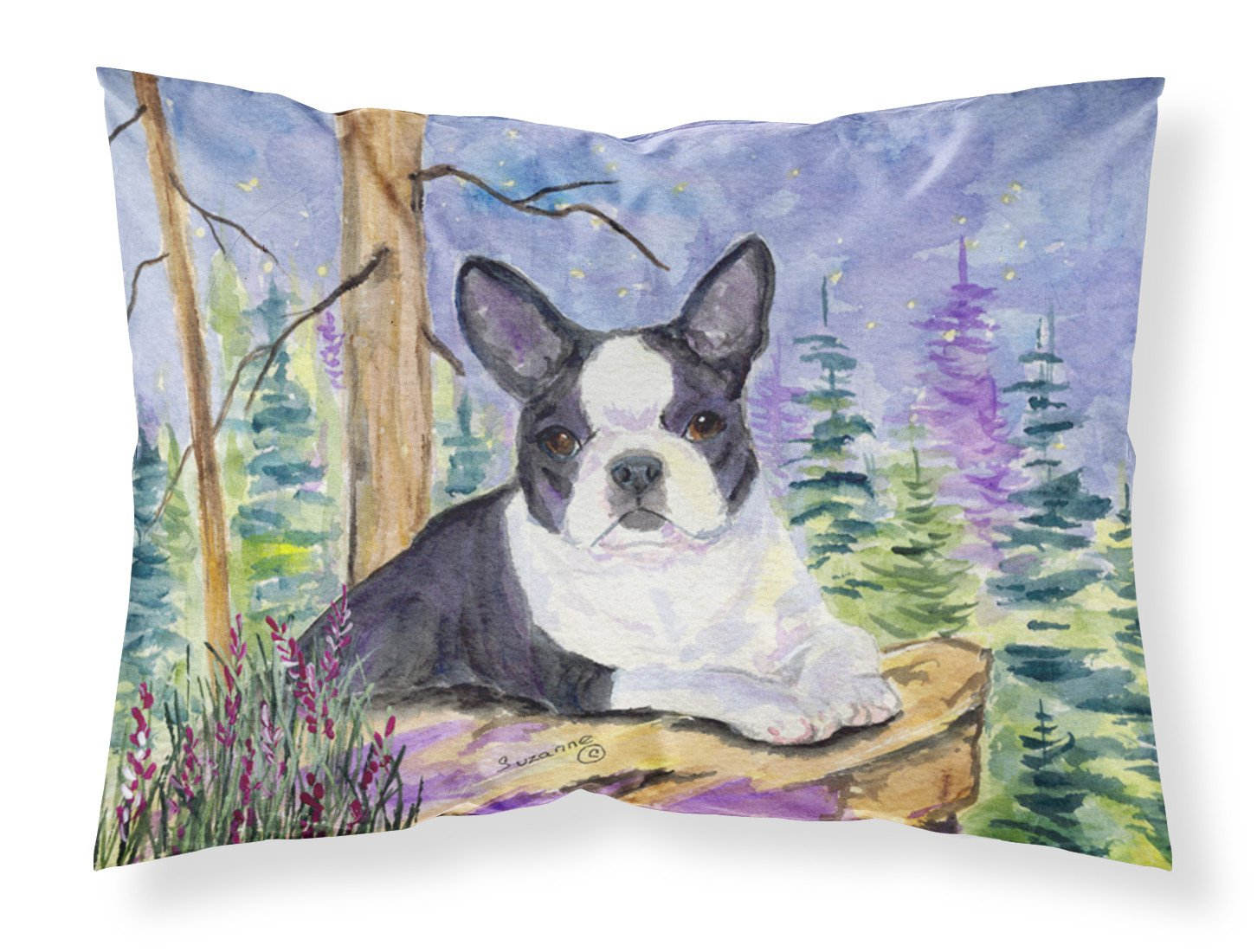 Boston Terrier Moisture wicking Fabric standard pillowcase by Caroline's Treasures