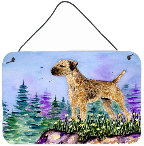 Buy this Border Terrier Indoor Aluminium Metal Wall or Door Hanging Prints