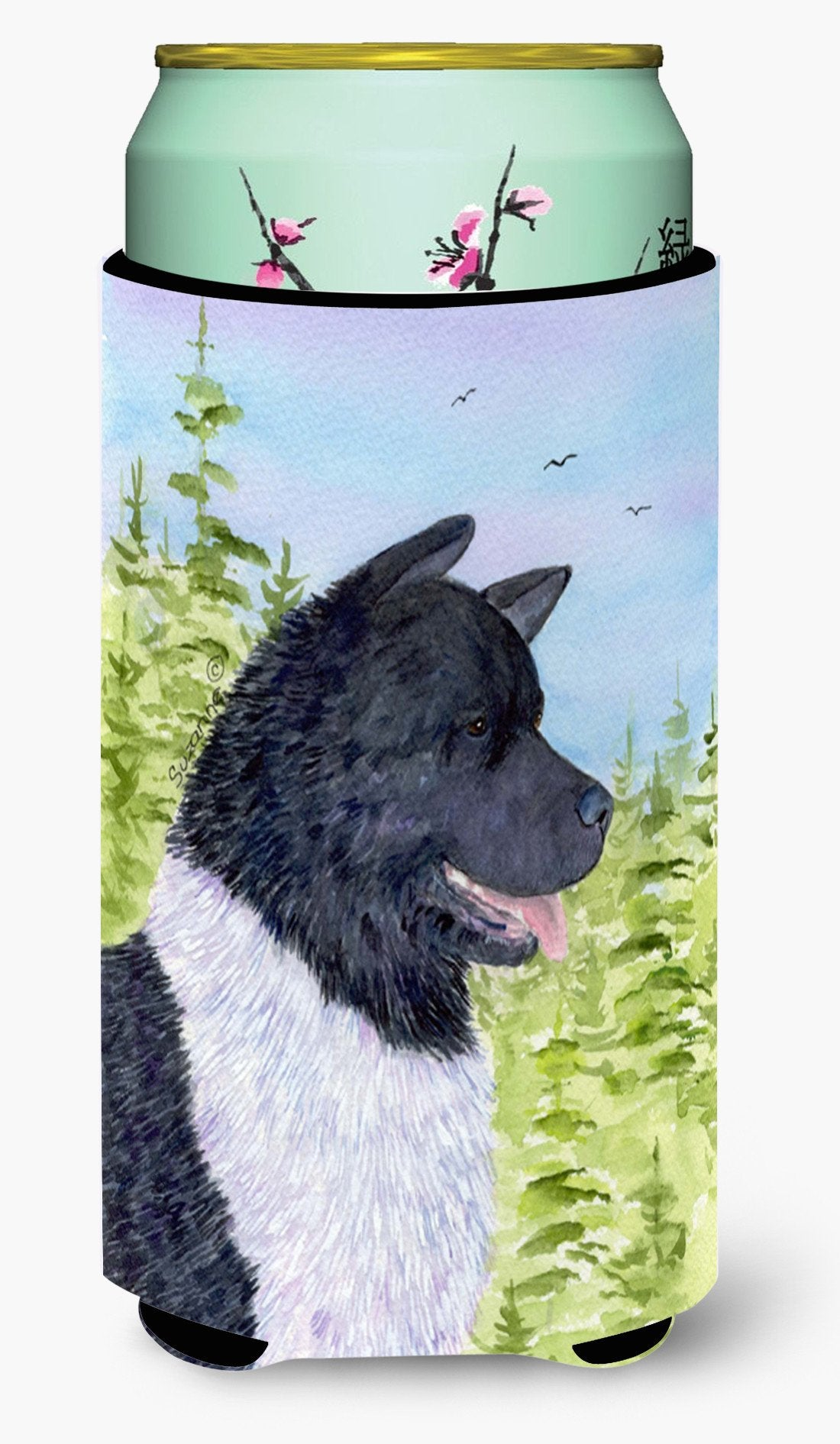 Akita  Tall Boy Beverage Insulator Beverage Insulator Hugger by Caroline's Treasures