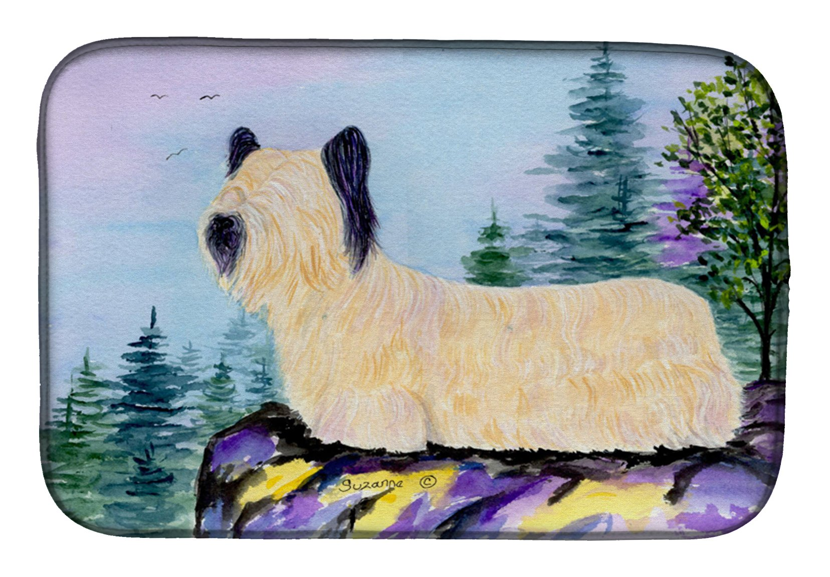 Skye Terrier Dish Drying Mat SS8679DDM by Caroline's Treasures