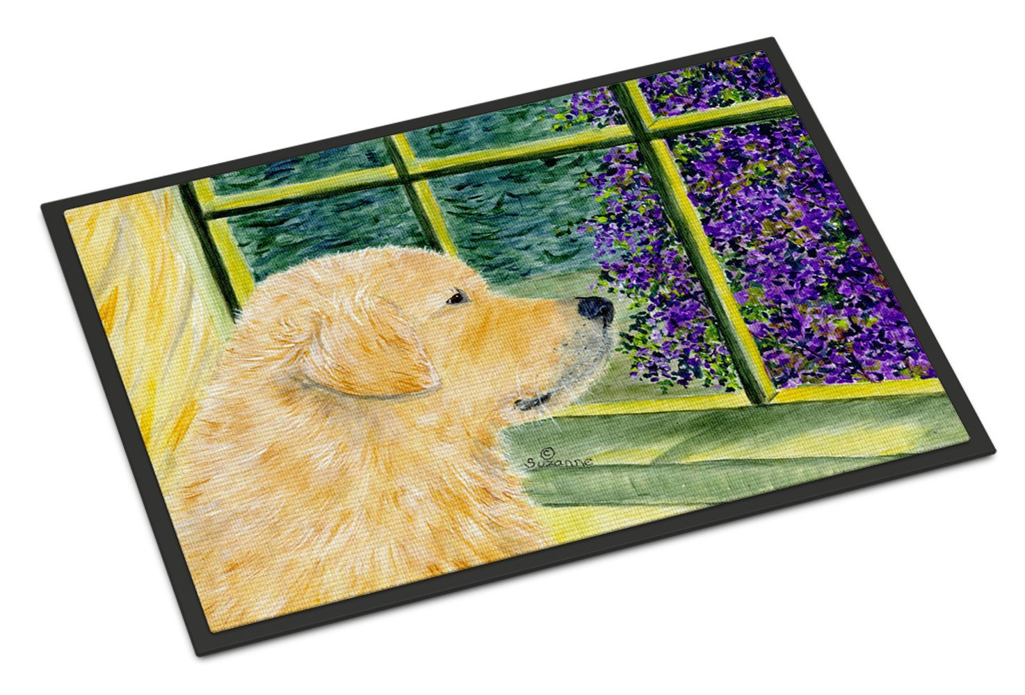 Golden Retriever Indoor Outdoor Mat 18x27 Doormat by Caroline's Treasures
