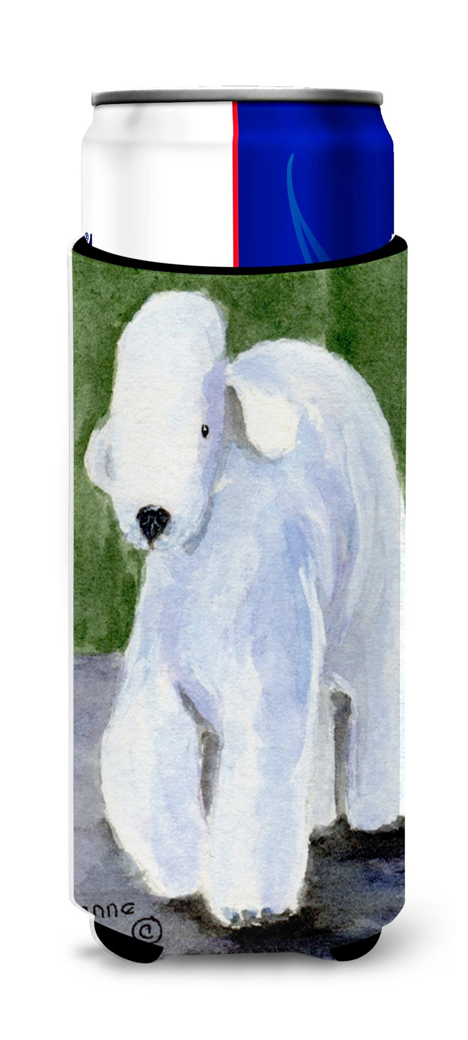 Bedlington Terrier Ultra Beverage Insulators for slim cans SS8683MUK by Caroline's Treasures