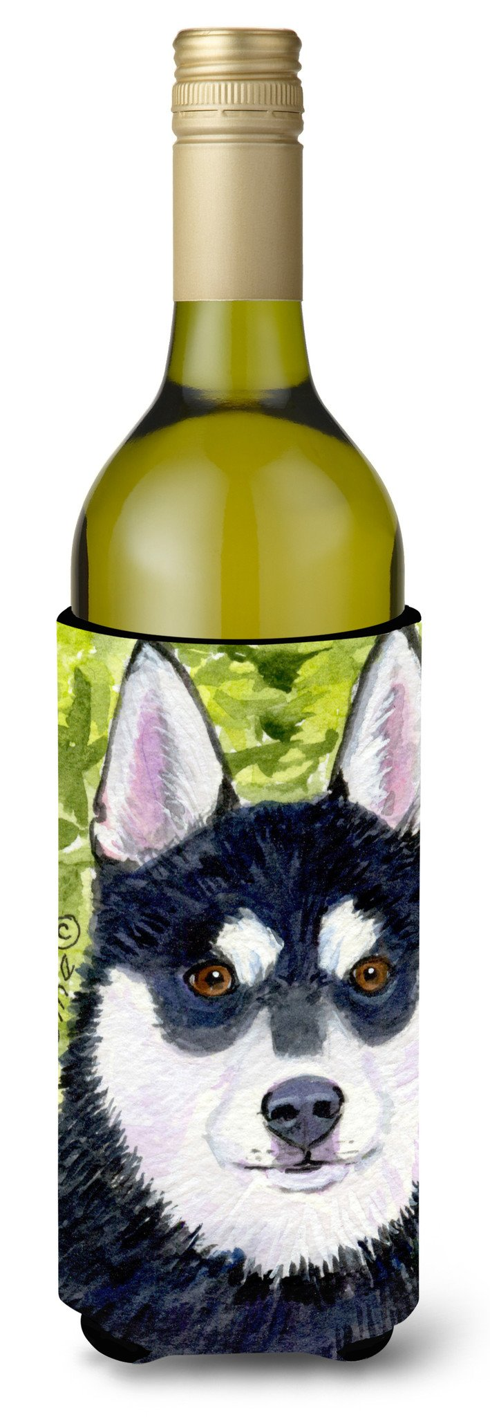 Klee Kai Wine Bottle Beverage Insulator Beverage Insulator Hugger SS8696LITERK by Caroline's Treasures