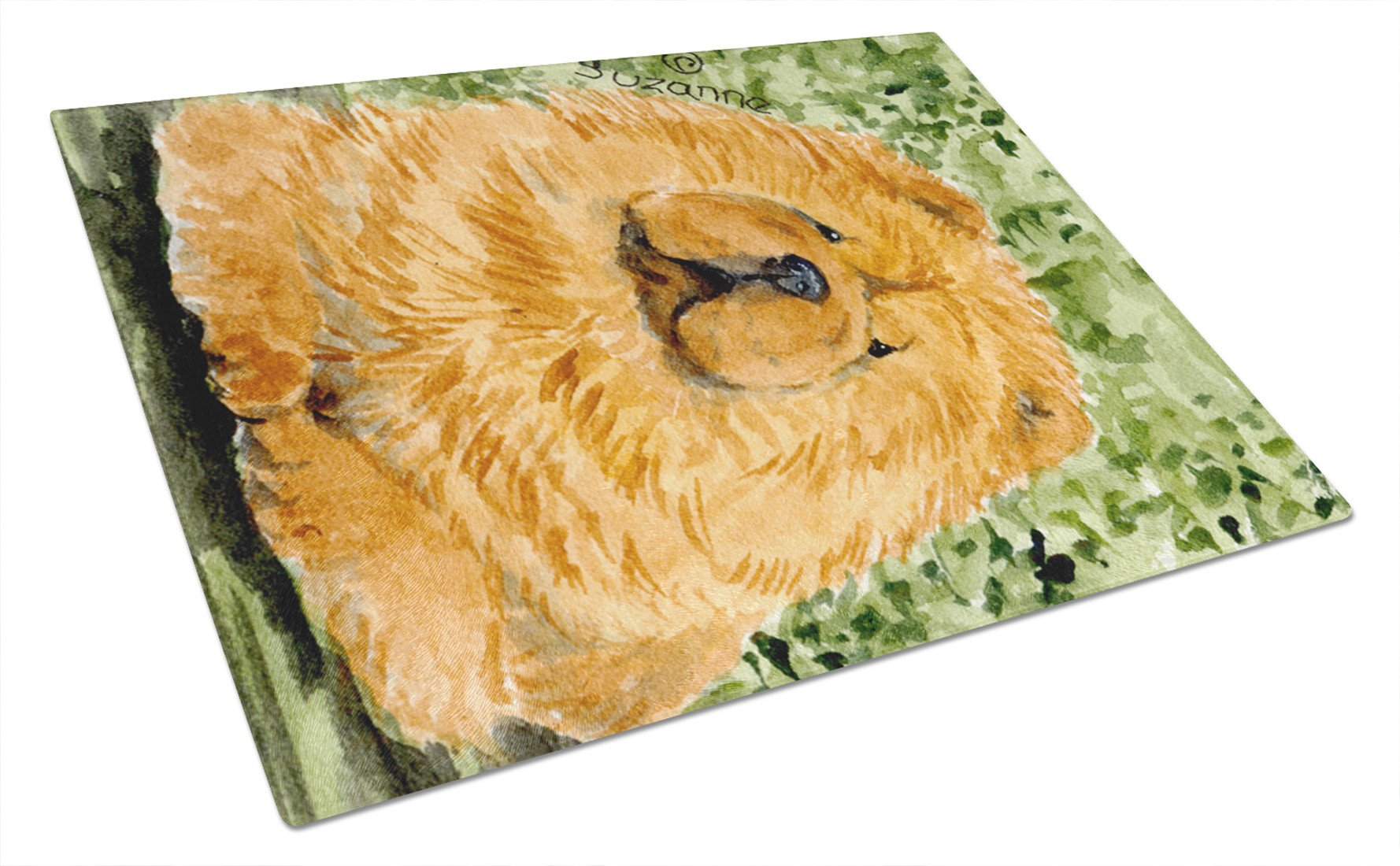 Chow Chow Glass Cutting Board Large by Caroline's Treasures