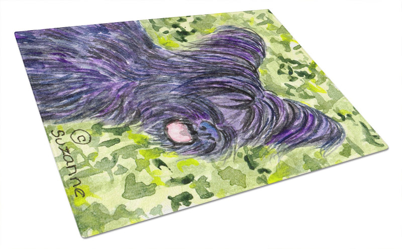 Buy this Skye Terrier Glass Cutting Board Large