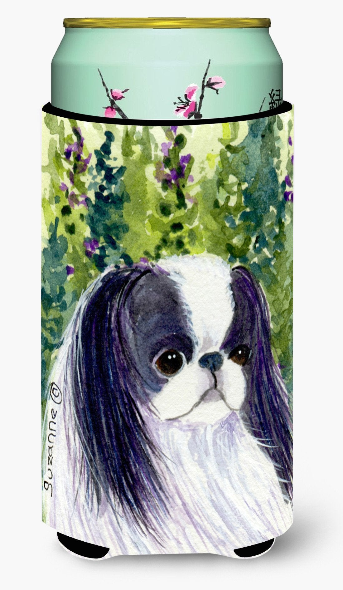 Japanese Chin  Tall Boy Beverage Insulator Beverage Insulator Hugger by Caroline's Treasures