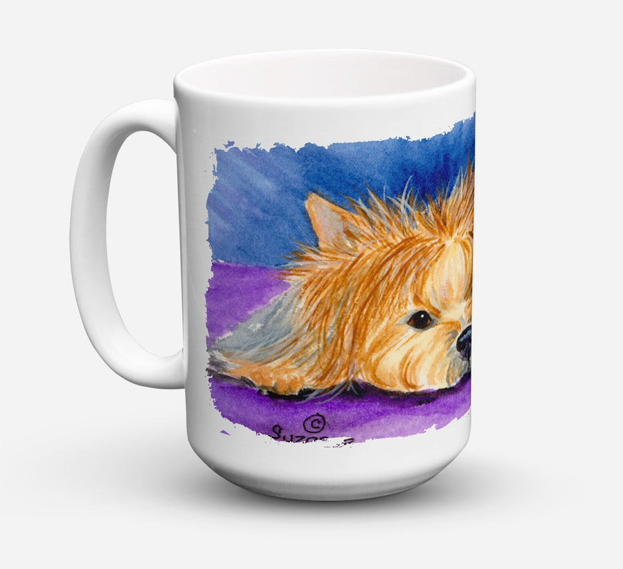 Buy this Yorkie Dishwasher Safe Microwavable Ceramic Coffee Mug 15 ounce SS8749CM15