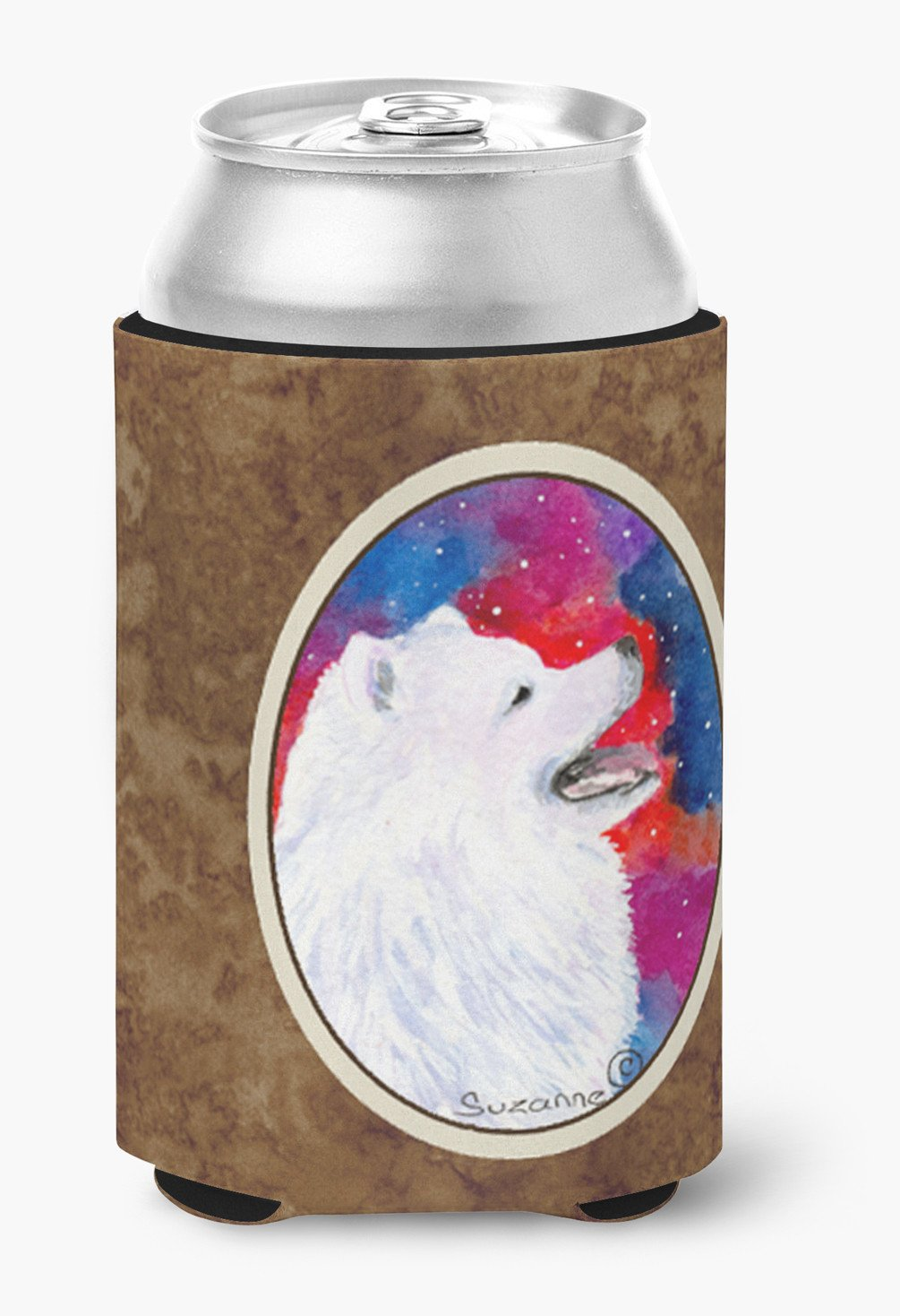 Buy this Samoyed Can or Bottle Beverage Insulator Hugger