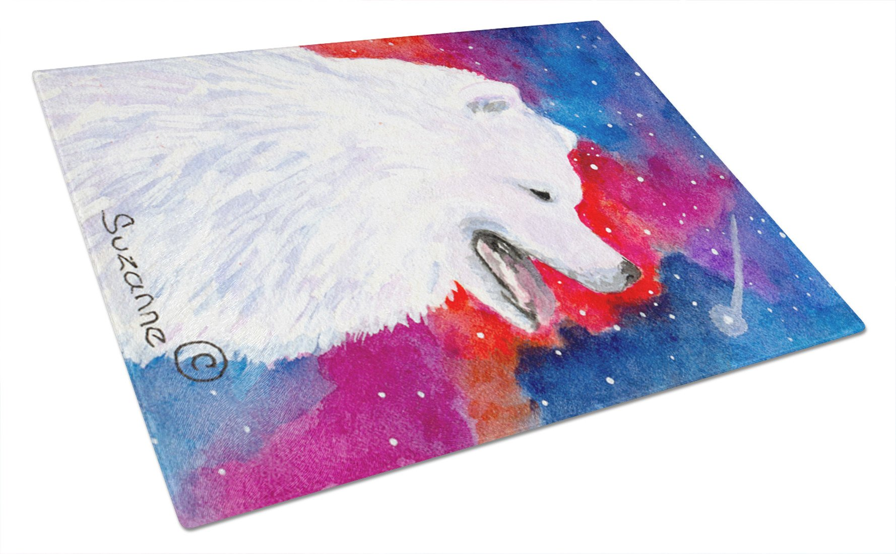Buy this Samoyed Glass Cutting Board Large