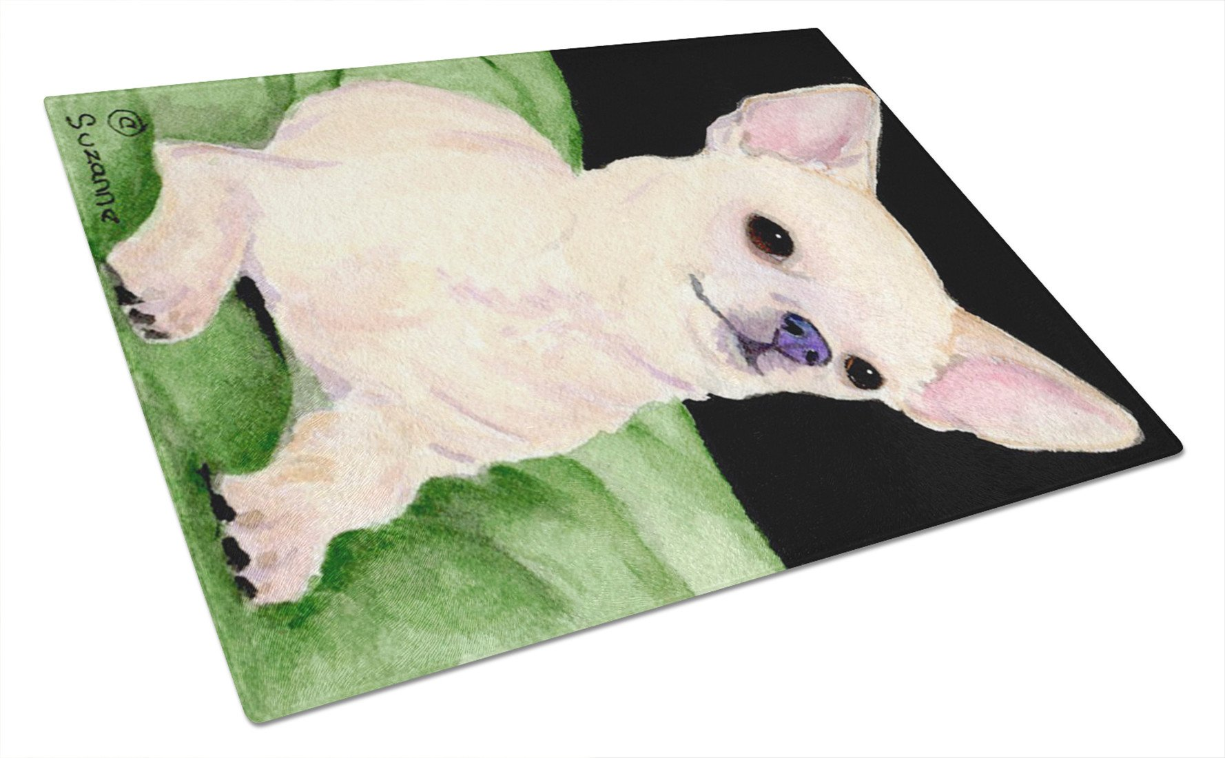 Chihuahua Glass Cutting Board Large by Caroline's Treasures