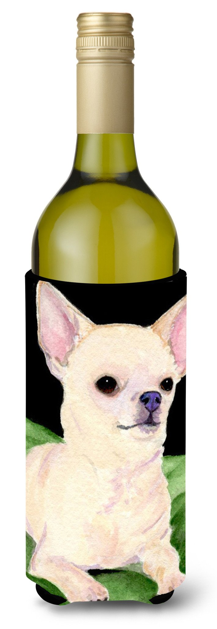 Chihuahua Wine Bottle Beverage Insulator Beverage Insulator Hugger SS8789LITERK by Caroline's Treasures
