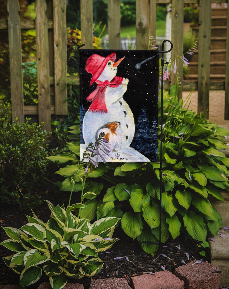 Buy this Snowman with Papillon Flag Garden Size