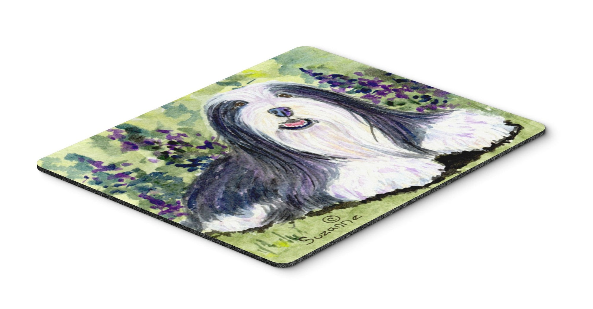 Bearded Collie Mouse pad, hot pad, or trivet by Caroline's Treasures