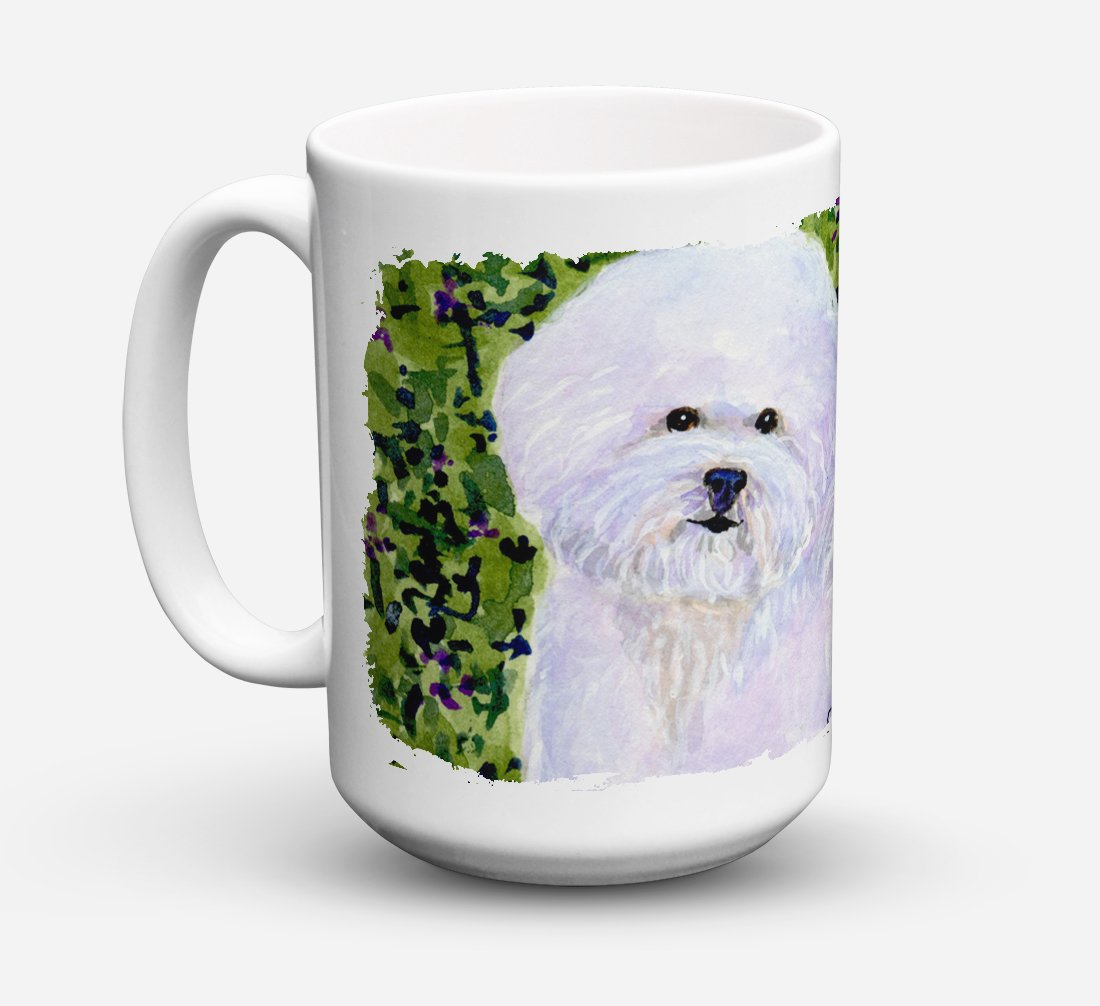 Bichon Frise Dishwasher Safe Microwavable Ceramic Coffee Mug 15 ounce SS8817CM15 by Caroline's Treasures