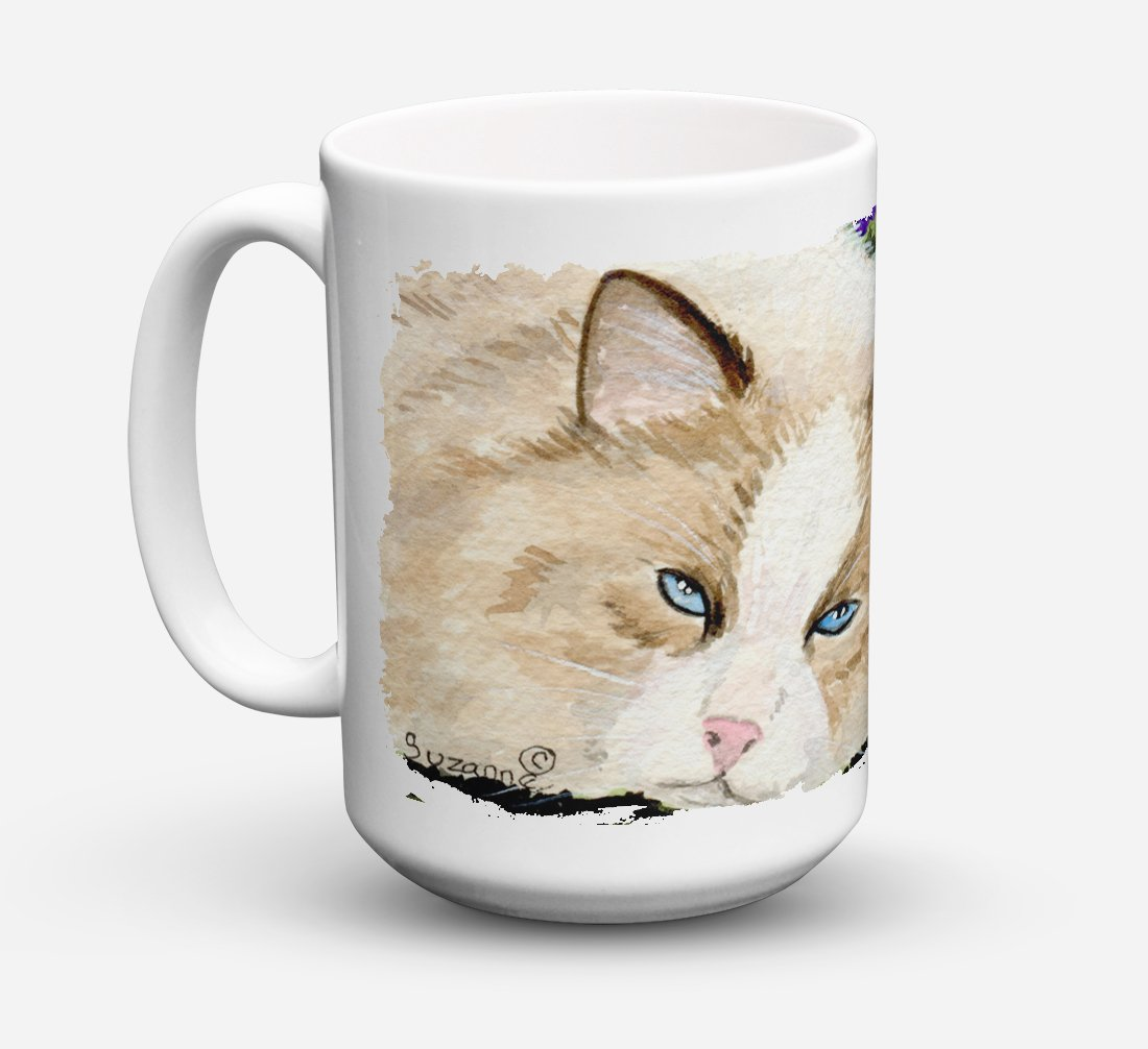 Cat Dishwasher Safe Microwavable Ceramic Coffee Mug 15 ounce SS8825CM15 by Caroline's Treasures