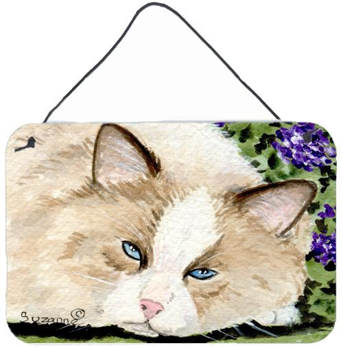 Cat Indoor Aluminium Metal Wall or Door Hanging Prints by Caroline's Treasures