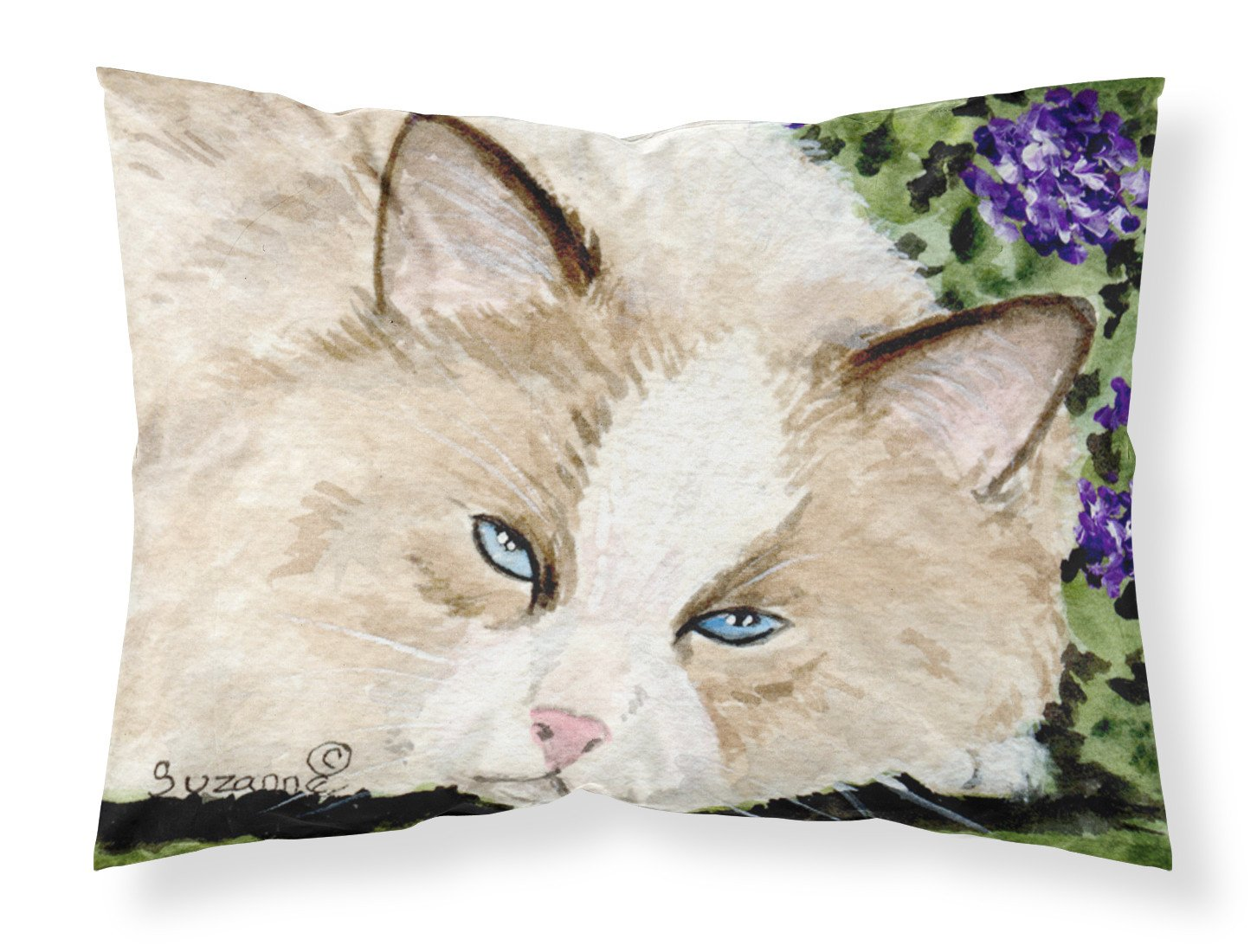 Cat Moisture wicking Fabric standard pillowcase by Caroline's Treasures