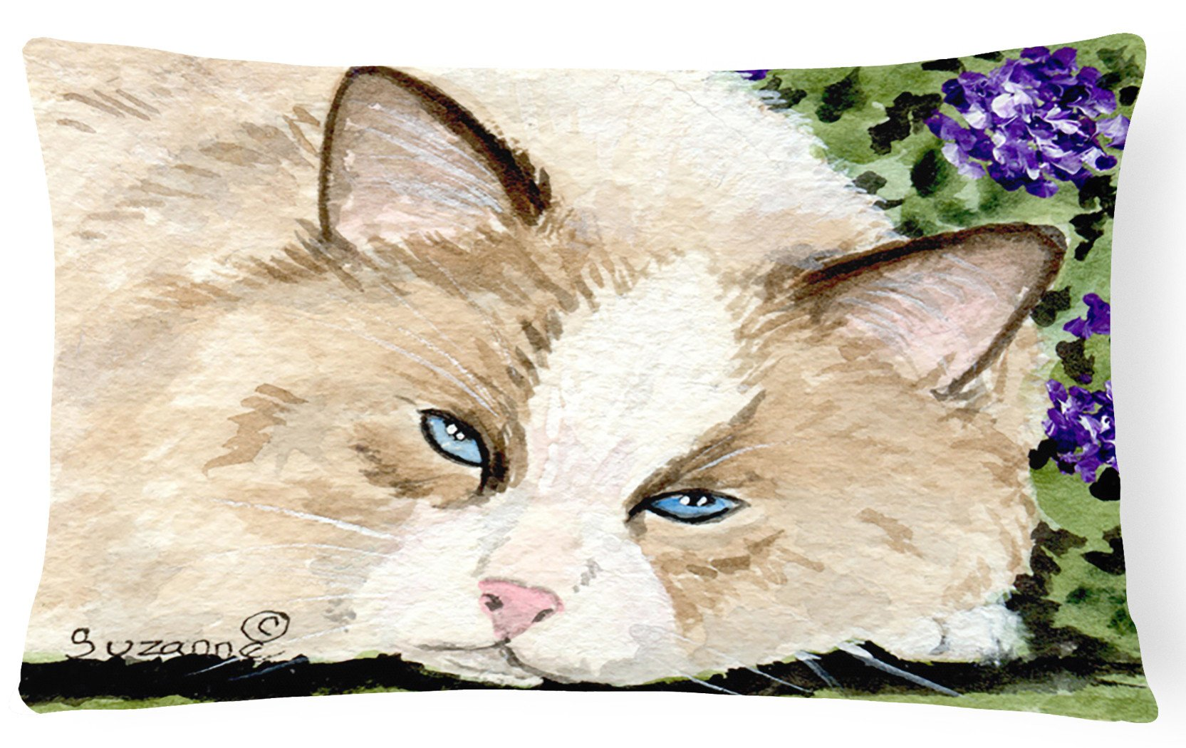 Cat Decorative   Canvas Fabric Pillow by Caroline's Treasures