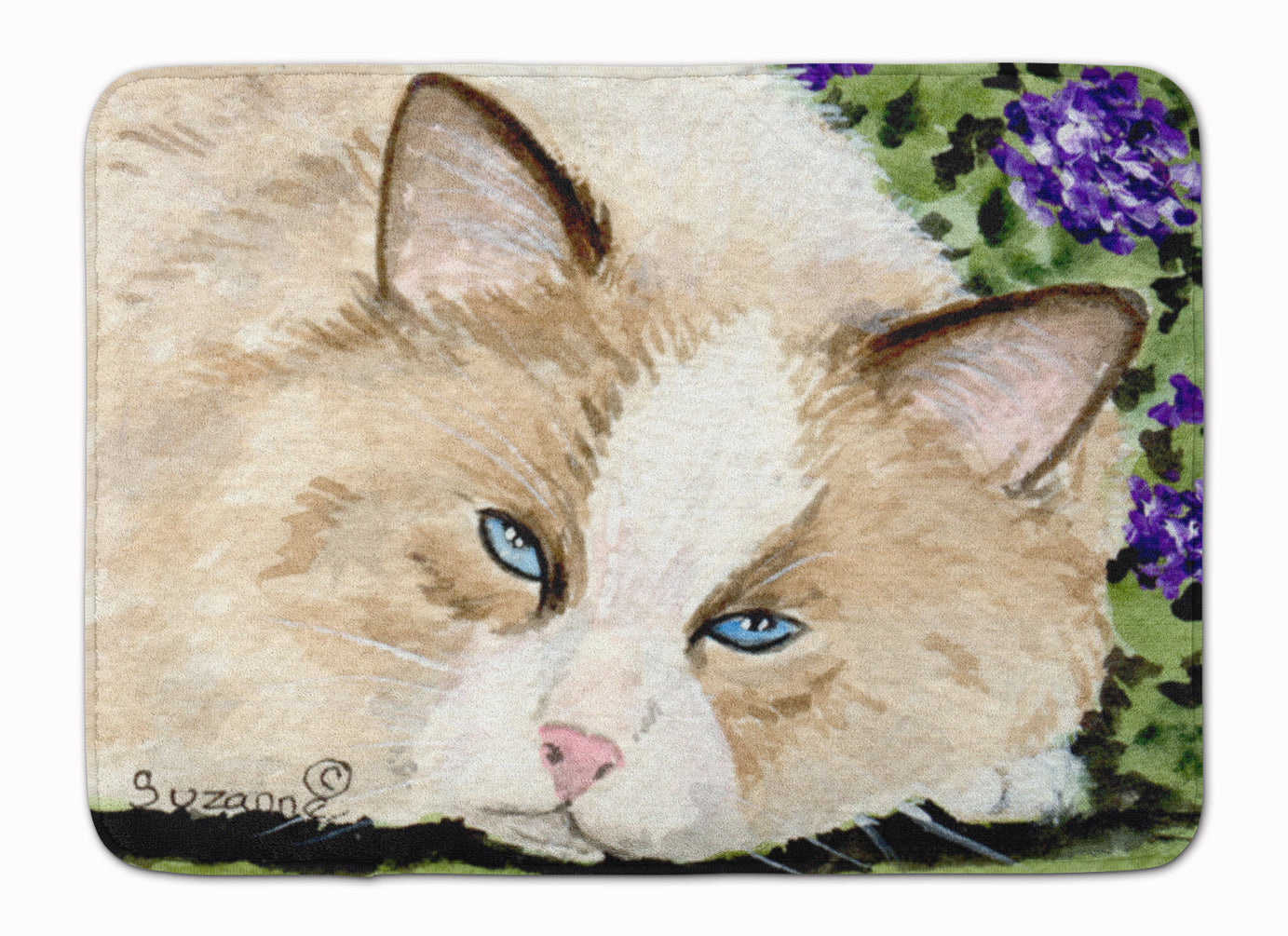 Cat Machine Washable Memory Foam Mat SS8825RUG by Caroline's Treasures