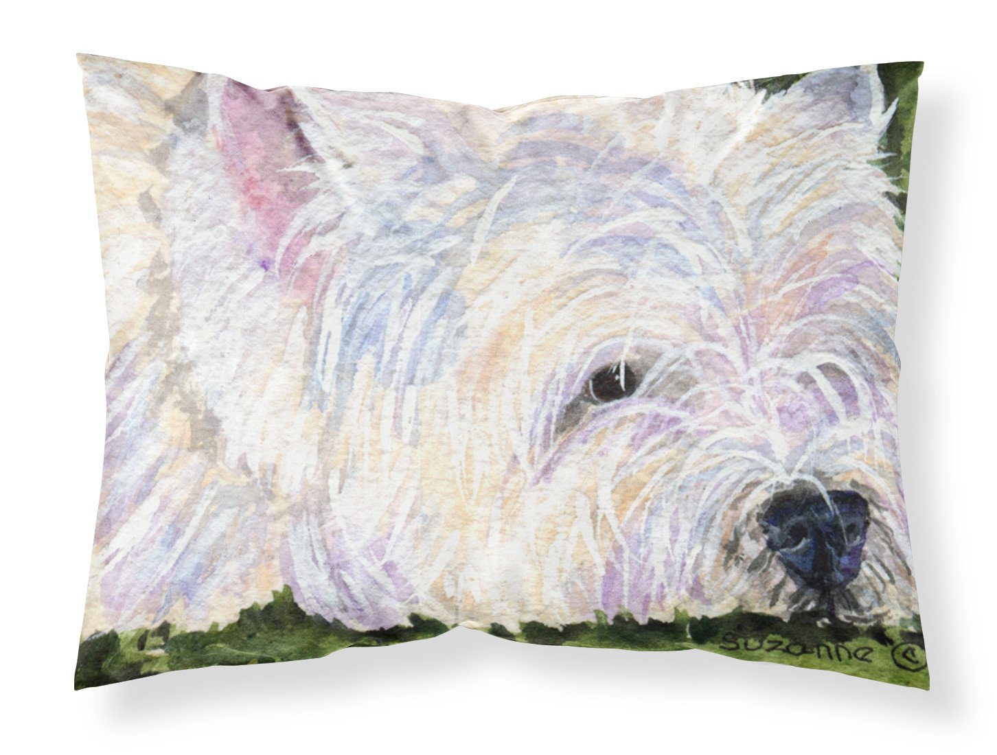 Westie Moisture wicking Fabric standard pillowcase by Caroline's Treasures