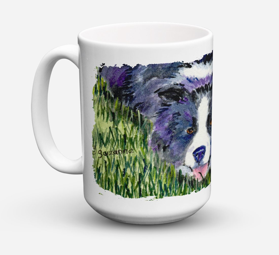Border Collie Dishwasher Safe Microwavable Ceramic Coffee Mug 15 ounce SS8836CM15 by Caroline's Treasures