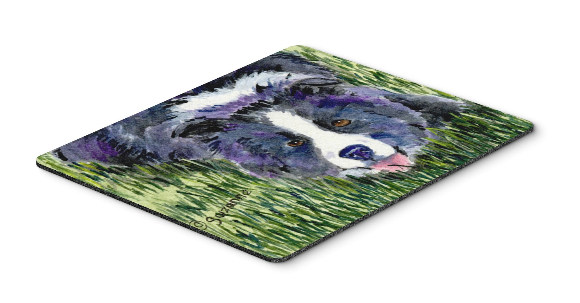 Border Collie Mouse pad, hot pad, or trivet by Caroline's Treasures