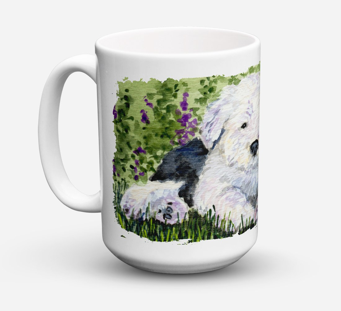Old English Sheepdog Dishwasher Safe Microwavable Ceramic Coffee Mug 15 ounce SS8840CM15 by Caroline's Treasures