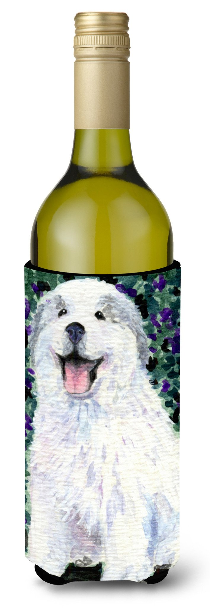 Buy this Great Pyrenees Wine Bottle Beverage Insulator Beverage Insulator Hugger SS8856LITERK