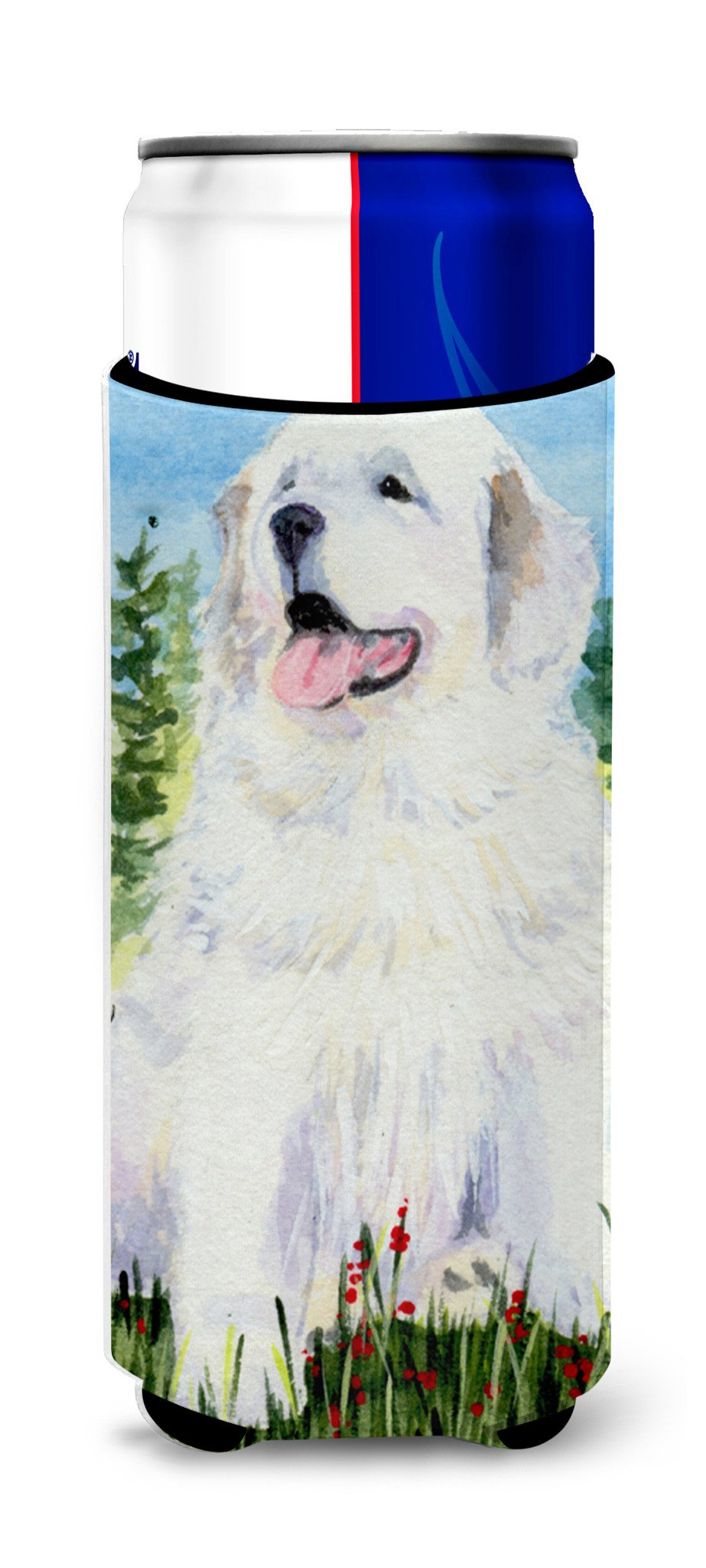 Great Pyrenees Ultra Beverage Insulators for slim cans SS8866MUK by Caroline's Treasures