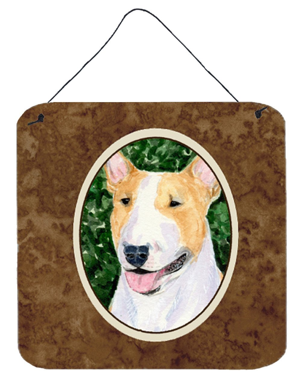 Bull Terrier Aluminium Metal Wall or Door Hanging Prints by Caroline's Treasures