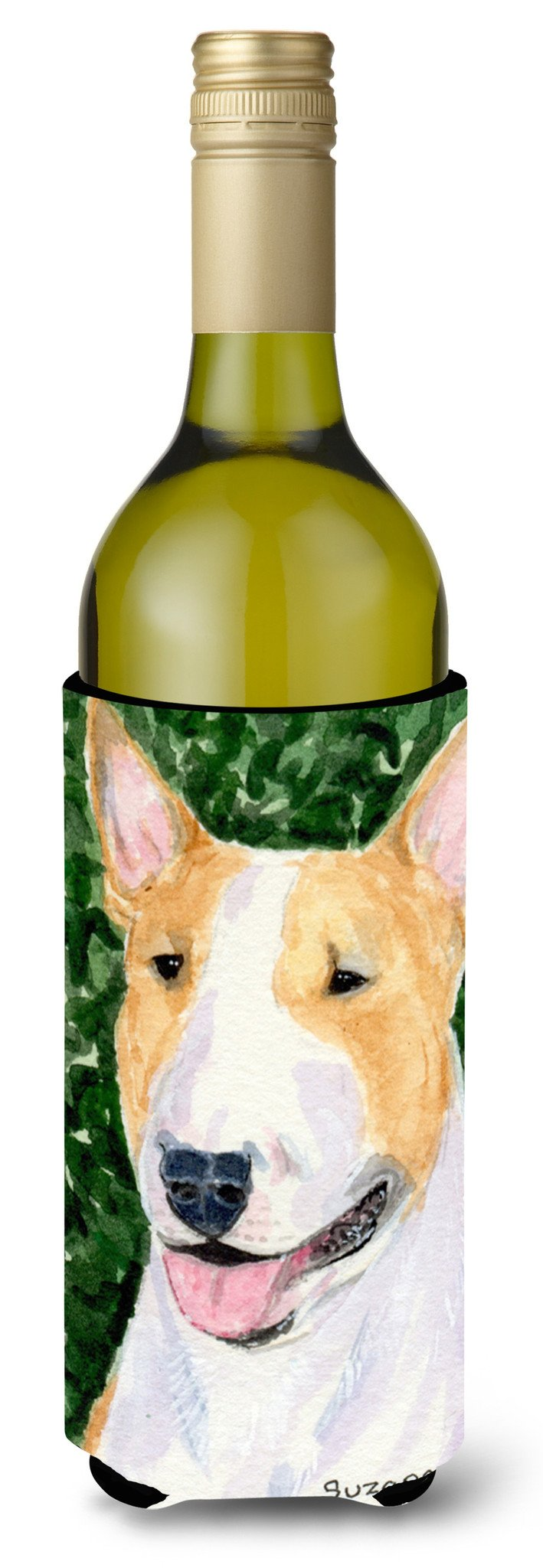Bull Terrier Wine Bottle Beverage Insulator Beverage Insulator Hugger SS8873LITERK by Caroline's Treasures