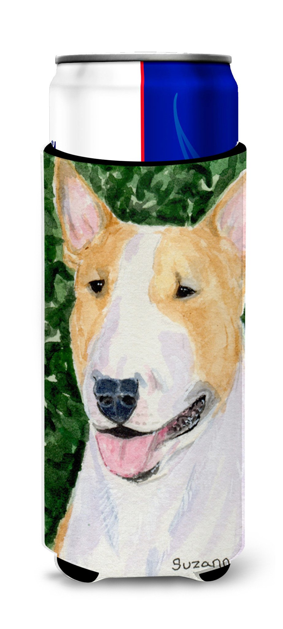 Bull Terrier Ultra Beverage Insulators for slim cans SS8873MUK by Caroline's Treasures