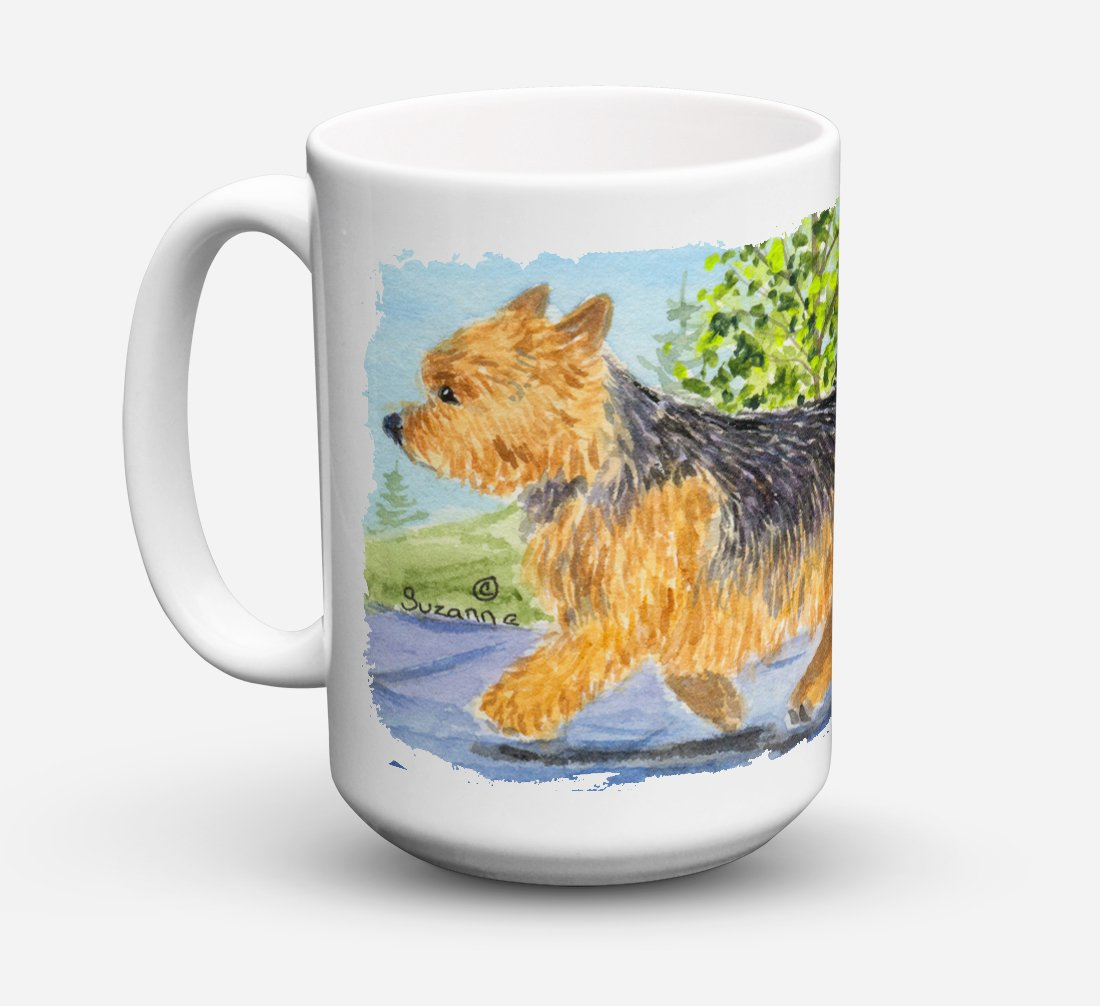 Norwich Terrier Dishwasher Safe Microwavable Ceramic Coffee Mug 15 ounce SS8879CM15 by Caroline's Treasures
