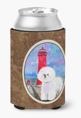 Buy this Lighthouse with Bichon Frise Can or Bottle Beverage Insulator Hugger
